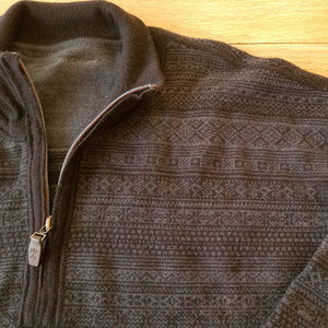 TOMMY BAHAMA Merino Wool 1/4 Zip Sweater XXL